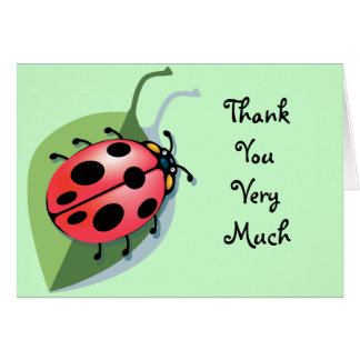 KRW Lady Bug Thank You Notes