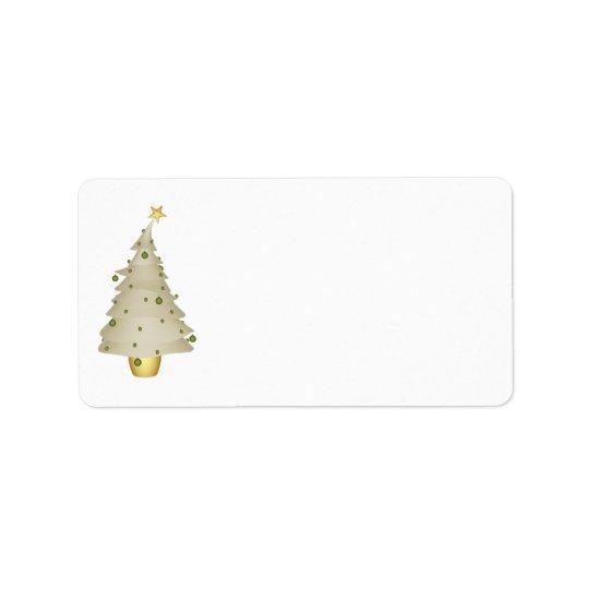 KRW Little Xmas Tree Holiday Blank Address Label