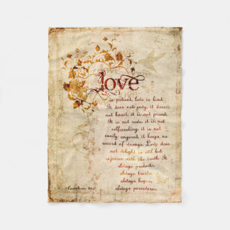 KRW Love Is Corinthians Bible Quote Blanket