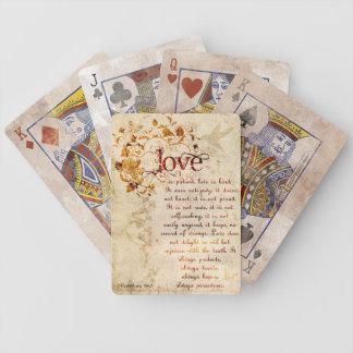 KRW Love Is Corinthians Wedding Favor Cards