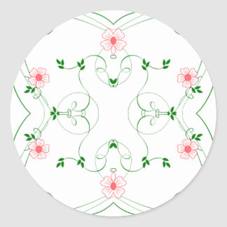 KRW Lovely Pink Floral 1.5 Inch Sticker