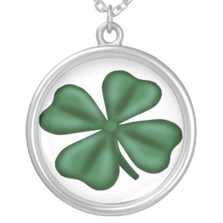 KRW Lucky 4 Leaf Clover Sterling Silver Necklace
