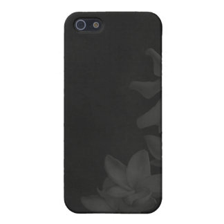 KRW Monochrome Lilies in Charcoal i iPhone 5/5S Case
