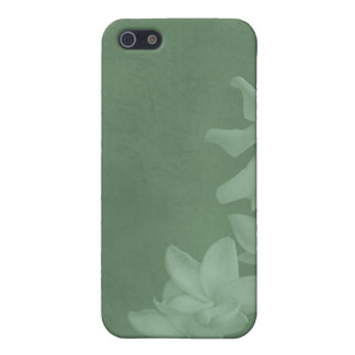 KRW Monochrome Lilies in Icy Teal i iPhone 5 Case