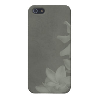 KRW Monochrome Lilies in Slate i iPhone 5/5S Covers