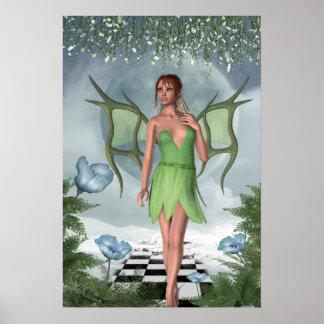 KRW Moonlit Dreams Fairy Fantasy Art Poster