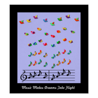 KRW Music Makes Dreams Take Flight Poster