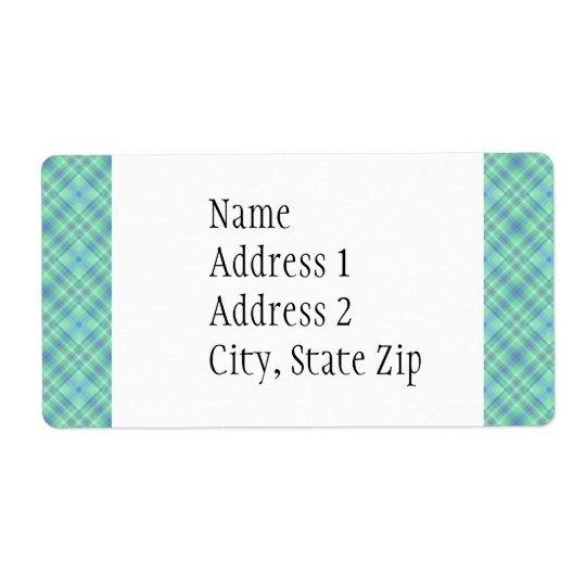 KRW Ocean Blue Custom Shipping Address Label