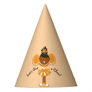 KRW Orange Cheerleader Birthday Party Hat