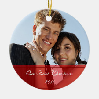 KRW Our First Christmas Together Custom Ornament