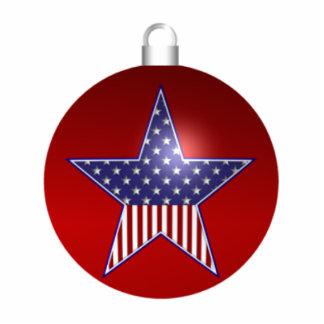 KRW Patriotic Holiday Sculpture Ornament Photo Cutouts