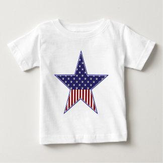 KRW Patriotic USA Flag Star Baby T-Shirt
