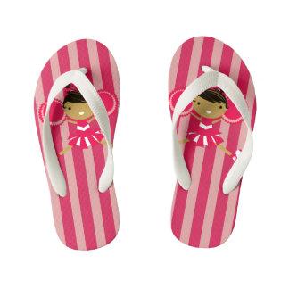 KRW Pink Cheerleader Party Kids Flip Flops Thongs