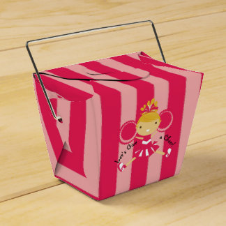 KRW Pink Cheerleader Party Take Out Favor Box
