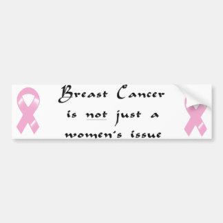 KRW Pink Ribbon Men Bumper Sticker