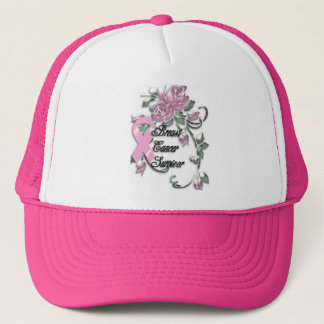 KRW Pink Ribbon Survivor Trucker Hat