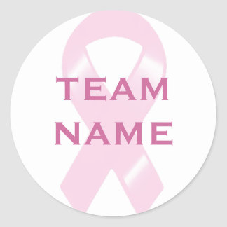 KRW Pink Ribbon Walk Custom Team Round Sticker