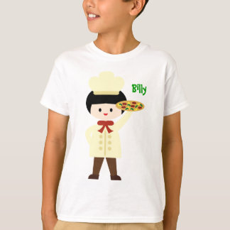 KRW Pizza Party Custom Name Tee Boy