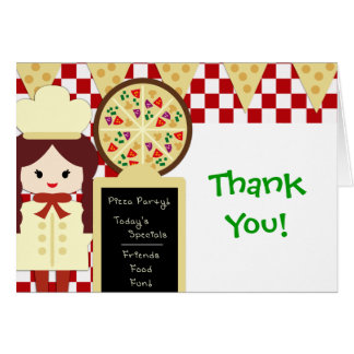 KRW Pizza Party Thank You Girl Card