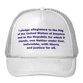 KRW Pledge of Allegiance Cap