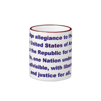 KRW Pledge of Allegiance Coffee Mug