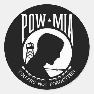 KRW POW-MIA You Are Not Forgotten Classic Round Sticker