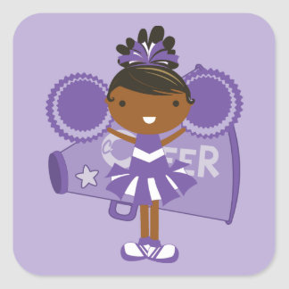 KRW Purple Cheerleader Sticker Favor