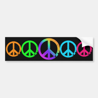 KRW Rainbow Peace Signs Bumper Sticker