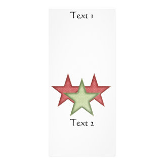 KRW Red and Green Christmas Stars Rack Card