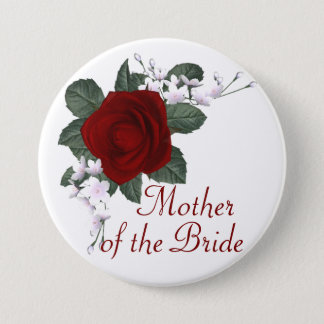 KRW Red Rose Mother of the Bride Wedding Pin
