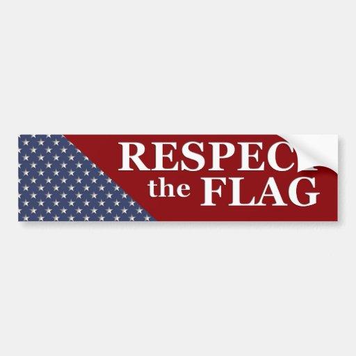 KRW Respect the Flag USA Pride Bumper Sticker