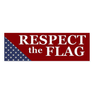 KRW Respect the Flag USA Pride Card Pack Of Skinny Business Cards
