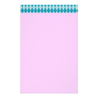 KRW Retro Blue Diamond Pink Stationery