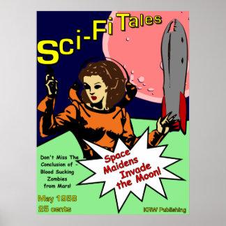 KRW Retro Sci-Fi Tales Comics Posters