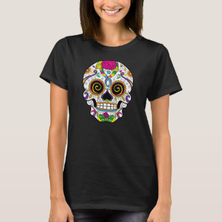 KRW Rose Sugar Skull Day of the Dead Tee