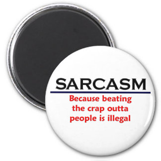 KRW Sarcasm Funny Joke 6 Cm Round Magnet