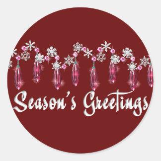 KRW Season's Greetings Snowdrops Seal - Red