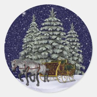 KRW Sleigh Ride Holiday Stickers - Seals