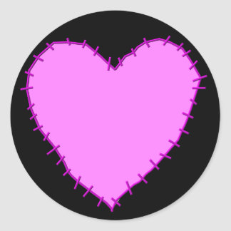 KRW Stitched Heart Stickers