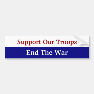 KRW Support Our Troops End The War Bumper Sticker