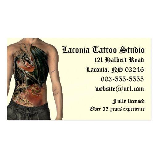 Krw tattoo studio custom business card zazzle for Business card size tattoos