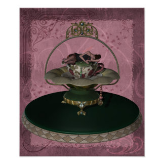 KRW Tea Cup Faerie Poster