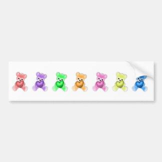 KRW Teddy Rainbow Bumper Sticker
