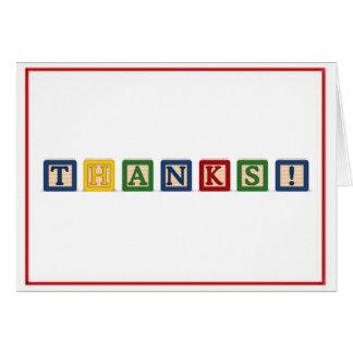 KRW Thank You - Baby Blocks Greeting Card