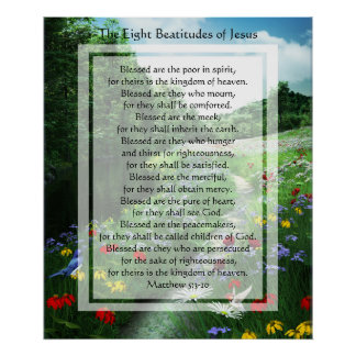 KRW The Eight Beatitudes of Jesus Print