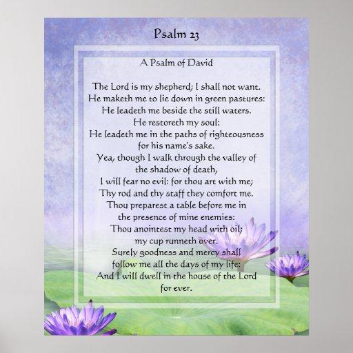 KRW The Lord is My Shepherd Psalm 23 Print