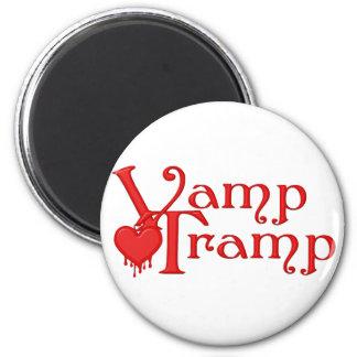 KRW Vamp Tramp Blood Dripping Heart 6 Cm Round Magnet