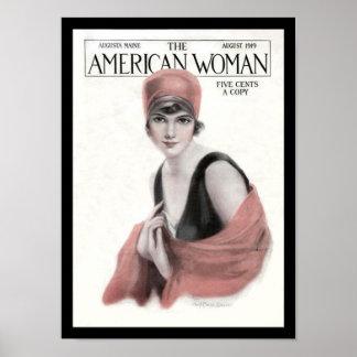 KRW Vintage American Woman Magazine 1919 Print