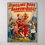 KRW Vintage Circus Clown Poster