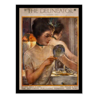 KRW Vintage Delineator 1910 Magazine Print